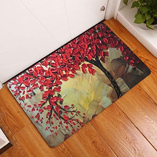 Nunbee Designer Paillasson Tapis de Sol antidérapant extérieur d'entrée Interieur Fibre de Coco Geek Noël Chat Chouette cerf Enfant Multicolore, Arbre...