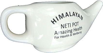 Hughdy Neti Pot de cer/ámica de 250 ml Neti Pot de cer/ámica para Lavar la Nariz Boquilla c/ómoda para Limpieza Nasal