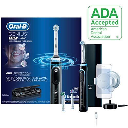 Price comparison product image Oral-B 9600 Electric Toothbrush,  3 Brush Heads,  Black,  Powered by Braun