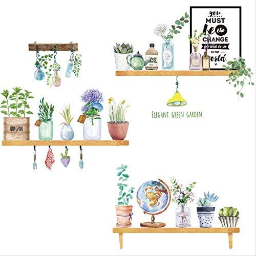 Muurpasta bloemen planten tuin fris in bloempot woonkamer slaapkamer muur glas wanddecoratie wanddecoratie wanddecoratie papierlijm