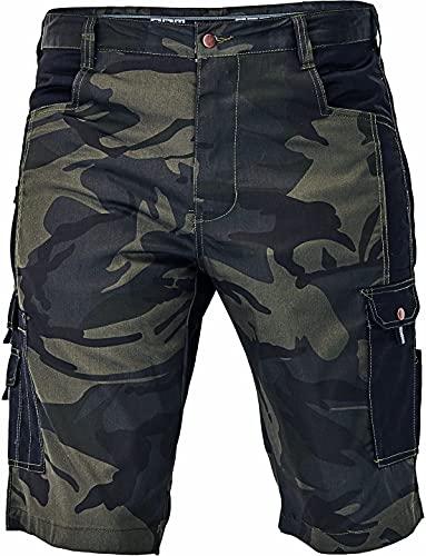 DINOZAVR Crambe Pantaloni Corti da Lavoro Uomo - Bermuda Cargo Pantaloncini Estivi con Tasche Multifunzione - Camo M