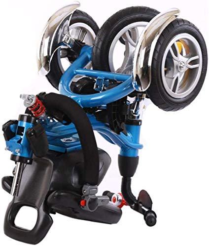 HUJPI Triciclo Infantil, Triciclo para Niños Chrome Guardabarros Delantero Triciclos Bebes bebé Triciclo Triciclo del bebé de la Bici,Blue