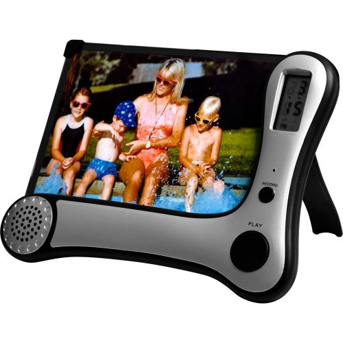 Journey's Edge Photo Frame with Digital Voice Recorder & Clock