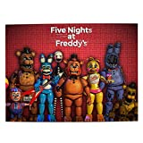 Five Nights at Freddy's Picture Puzzle Toy Set 500 Pieces Family Intellectual Educational Game for Adult Kids Boys Girls 15 X 20.4 Inch