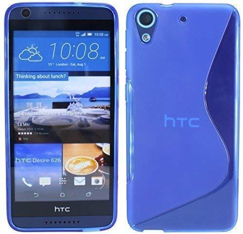 ENERGMiX Silikon Hülle kompatibel mit HTC Desire 626G Tasche Hülle Gummi Schutzhülle Zubehör in Blau