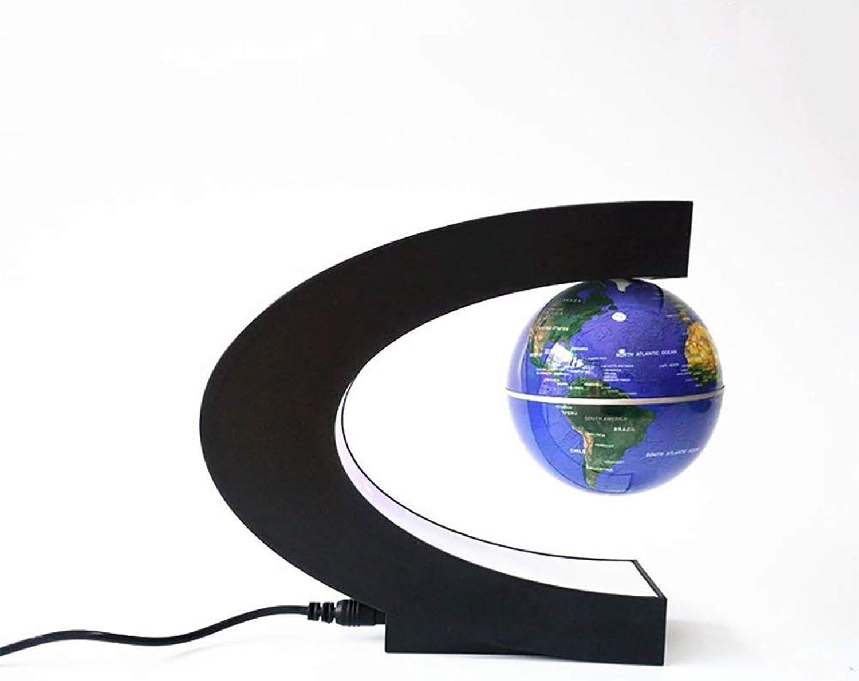 YUN Earth@ Schwimmende Kugel Bunte Nacht Perle C Form Magnetschwebebahn Floating Globe Weltkarte für Schreibtisch Dekoration