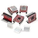 powerday A4988 StepStick Stepper Motor Driver Module + Heat Sink for 3D Printer Reprap (pack of 5 pcs)