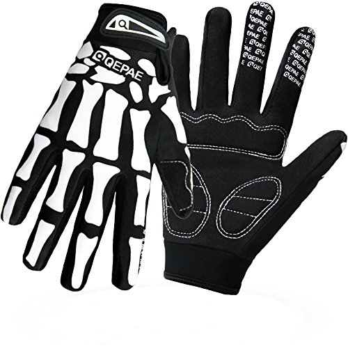 QEPAE Guantes deportivos para jóvenes, con medio dedo y dedos completos, diseño...
