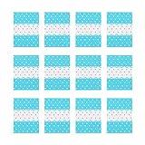 NUOBESTY 500 Piezas Turrón Envoltorios de Caramelo Punto Impreso Cera Giratoria Caramelo Caramelo Papel Lolly Hornear Papel de Regalo para El Día de San Valentín Boda Azul