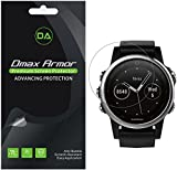 [6-Pack] Dmax Armor for Garmin Fenix 5S Screen Protector, Anti-Bubble High Definition Clear Shield