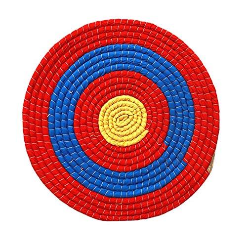 CREAL Sólido Redonda de la Paja del Tiro al Arco, Deportes al Aire Libre Caza Tiro al Blanco Junta Blanco de la Flecha, para práctica de Tiro 50 * 50cm,7