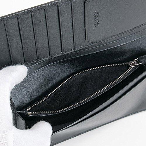 ブルガリBVLGARI財布長財布二つ折りメンズオクトOCTOブラック36966