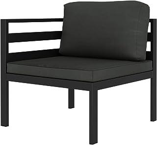 vidaXL Sofa narożna modułowa, 1 szt. z nakładkami, meble ogrodowe, sofa ogrodowa, fotel narożny, sofa pojedyncza, do ogrod...