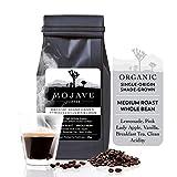 Organic Shade-Grown Ethiopian Coffee, Guji Heirloom, Single-Origin, Non-GMO, Whole Bean Medium Roast, from Premium High-Altitude Grown Arabica Beans, Keto Friendly, Small Batch, Fresh Roasted, Coffee Beans (Gift Wrap Available) 2lbs - Mojave Coffee