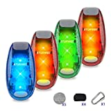 STURME LED Safety Light Flashing Warning Cilp On Reflective Light 3 Lighting Modes Strobe Lights for Night Walking ,Cycling, Joggers, Pets Small Reflective Set High Visibility (Red×2,Blue,Green)