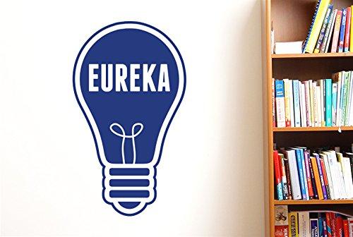 CUT IT OUT Eureka Sticker Mural en Forme d'ampoule Bleu foncé 97 x 57 cm