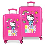 Juego de Maletas HELLO KITTY You Are Cute rígidas 55-68cm Fucsia
