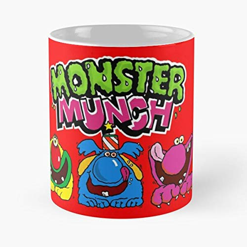 Monster Cyclops Flavour Beef Pink Munch Pickled Onion Yellow Roast I FSGprinty-New and trendy design for White marble ceramic coffee mug