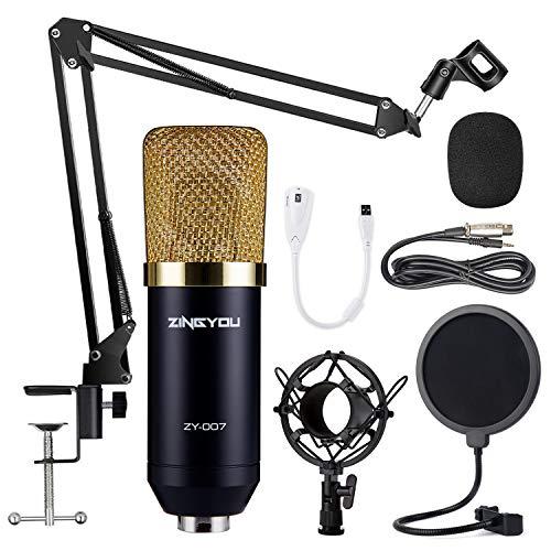 ZINGYOU Condenser Microphone Bundle, ZY-007 Professional Cardioid Studio...