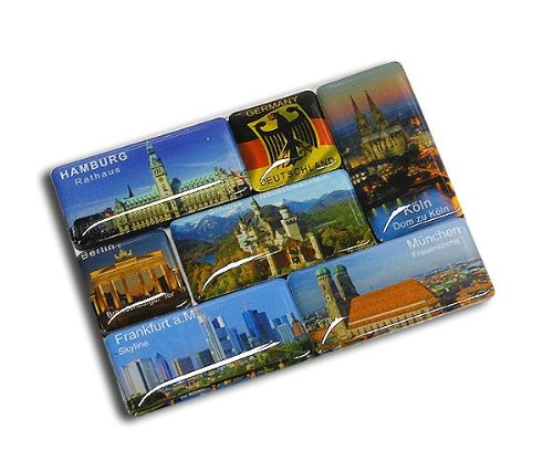 City Souvenir Shop Magnetset Deutschland, 7-teilig