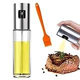 Botella de Rociador de Aceite, Dispensador de Aceite en Aerosol, Rociador de Aceite Transparente, Aceite en Aerosol para Cocinar, para Cocina, Cocina, Ensalada, Horneado de Pan, Parrilla (100ML)