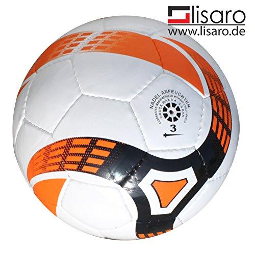 Lisaro Futsal-Ball Gr. 3 / 300g Weiss-orange/Futsal für E- und F-Jugend, sowie Bambini (G-Jugend).