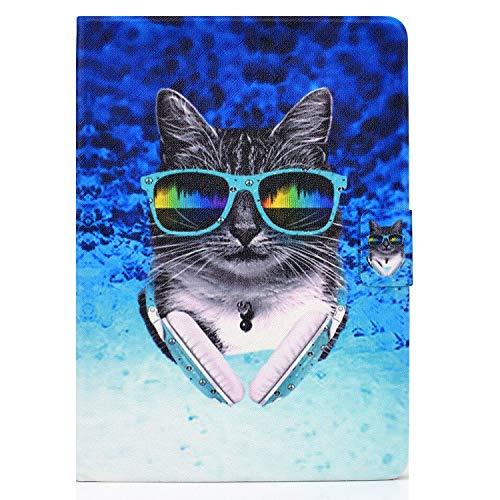 zl one - Carcasa para tablet Huawei Mediapad T3 10 de 9,6 pulgadas (piel sintética, protección de pantalla), diseño de gato