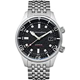 SPINNAKER Men's Bradner 42mm Steel Bracelet & Case Automatic Black Dial Analog Watch SP-5062-11