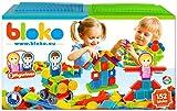 BLOKO – 503625 – Coffret de 150 'BLOKO' avec 2 plaques de jeu et 2 figurines Famille – Dès 12 mois – Fabriqué en EUROPE – Jouet de construction 1er âge