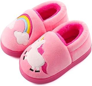 دمپایی گرم دخترانه ESTAMICO دمپایی گرم کارتونی اتومبیل کودک کفش خانگی داخلی زمستانی