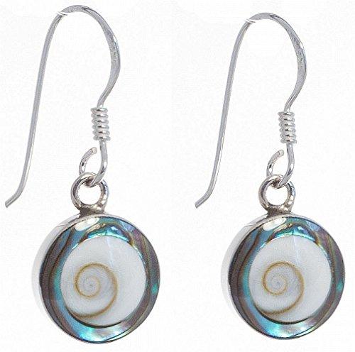 Muschel Schmuck (Ohrringe) Kreiselschnecke Abalone Ohrringe 925er Sterling-Silber Modellnummer 4945