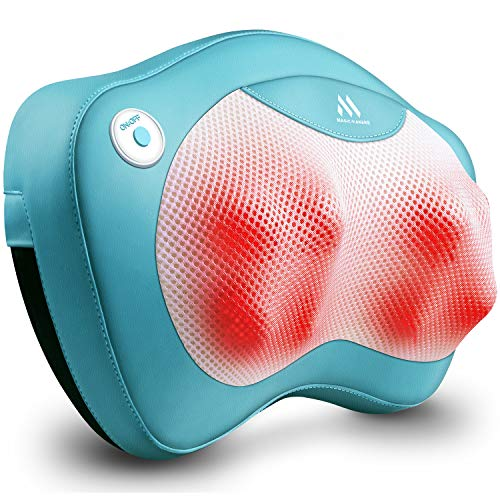 Back Massager Neck Massager with Heat - Gifts for Girlfriend, Boyfriend, Sister, Brother, Parents- Perfect Presents Idea for Valentines Day, Mothers Day, Fathers Day, Thanksgiving Day - Gift