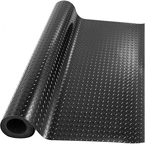 uyoyous Gummimatte Meterware Bodenmatte Schutzmatte 100 x 500 cm Garagenboden Bodenschutzmatte Rutschfest Gummiläufer | Stärke: 3mm | Schwarz