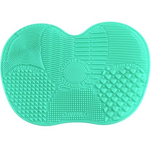 EliteKoopers Petit tapis de nettoyage en silicone pour pinceaux de maquillage (1 pièce)
