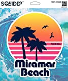 Squiddy Miramar Beach Florida - Vinyl Sticker Decal for Phone, Laptop, Water Bottle (3' high)