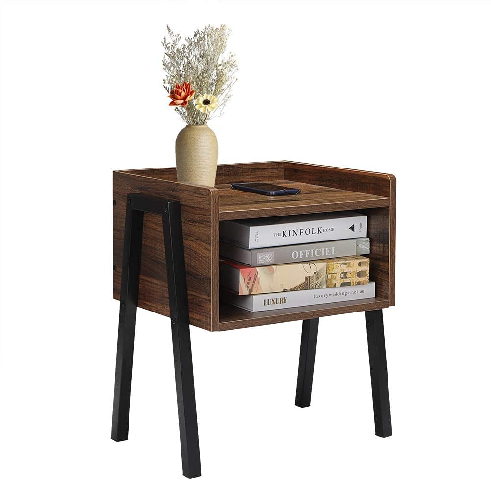 National uniform free shipping Wddwarmhome Bedside Table Nightstand with 4 years warranty Me Open Drawer Sturdy