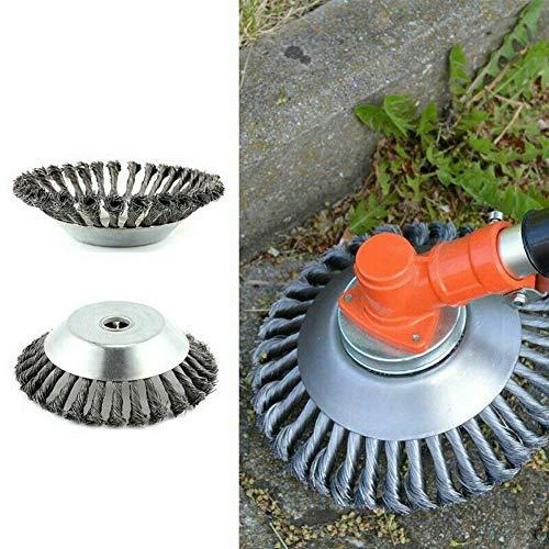 8 Pulgadas Cepillo de maleza Cepillo de rueda de alambre para cortar hierba 25.4 mm x 200 mm Cepillo Redondo para desbrozadoras