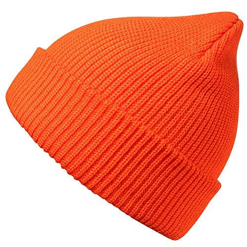 MaxNova Slouchy Beanie Hats Winter Knitted Caps Soft Warm Ski Hat Unisex (Bright Orange) at Amazon Men's Clothing store