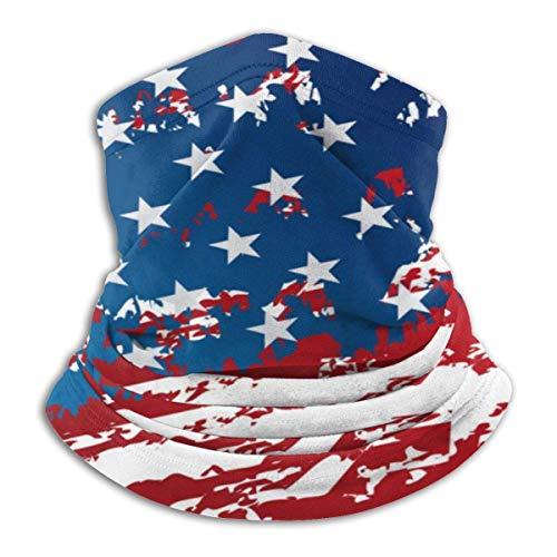 Randy-Shop America Flag Vintage patroon Halswarmer Huid Frindly Hals Gamas