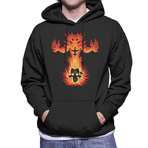 Inner Fire Cat Incineroar Litten Pokemon Men's Hooded Sweatshirt