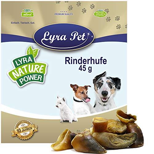 Lyra Pet® 100 Stück Rinderhufe ca. 4,5 kg Kalbshufe Rind Hufe Kauartikel Snack