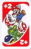 Super Mario defeating chomper plant trading card gaming Nintendo Brothers UNO #GCP1 back round color varies size 2x3 inches