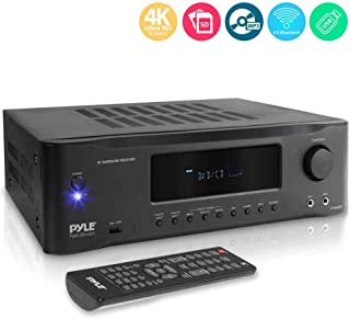5.2-Channel Hi-Fi Bluetooth Stereo Amplifier - 1000 Watt AV Home Speaker Subwoofer Sound Receiver W/Radio, USB, RCA, HDMI, Mic in, Wireless Streaming, Supports 4K UHD TV, 3D, Blu-Ray - Pyle PT694BT