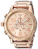 Nixon 51-30 Chrono. 100m Water Resistant Men's Watch (XL 51mm Watch Face/ 25mm Rose Gold Stainless Steel Band)