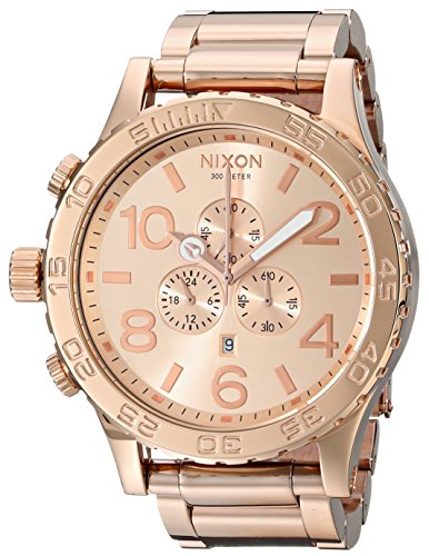 Nixon 51-30 Chrono All Rose Gold Watch A083-897: Watches