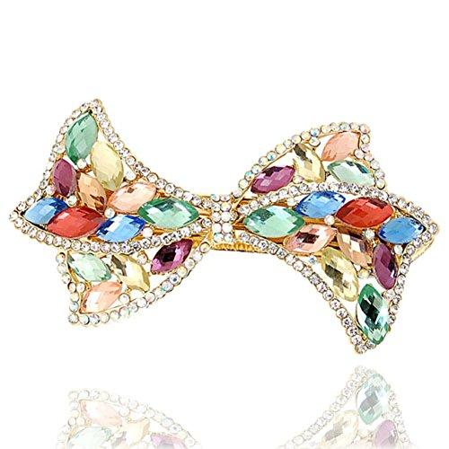 Korean version of butterfly hair clips rhinestone Pearl pin top clip headgear Korea horizontal clamp clip ladies hair accessories-C