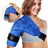 Atsuwell Shoulder Ice Pack Rotator Cuff Cold Therapy for Injuries Reusable Cold Gel Wrap for Shoulders Injury, Left or Right Upper Arm Pain Relief, Surgery Recovery - Soft Plush Lining and Flexible