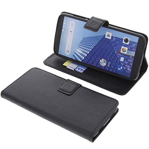 foto-kontor Tasche für Archos Access 57 4G Book Style schwarz Schutz Hülle Buch