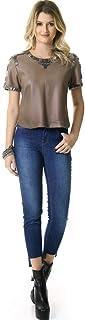 Calça Skinny Jeans Barra Irregular