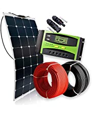 Kit Solar Panel Solar Flexible 12V 160W Kit Especial Autocaravana, Furgoneta o Barco